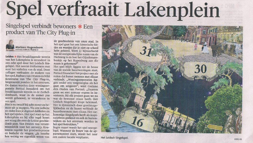 Publication in Leidsch Dagblad