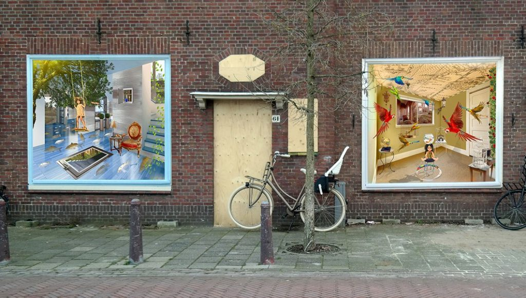 Assignment for housing association 'Sleutels': ARTvertisements for empty property. Creating better living conditions and surroundings.