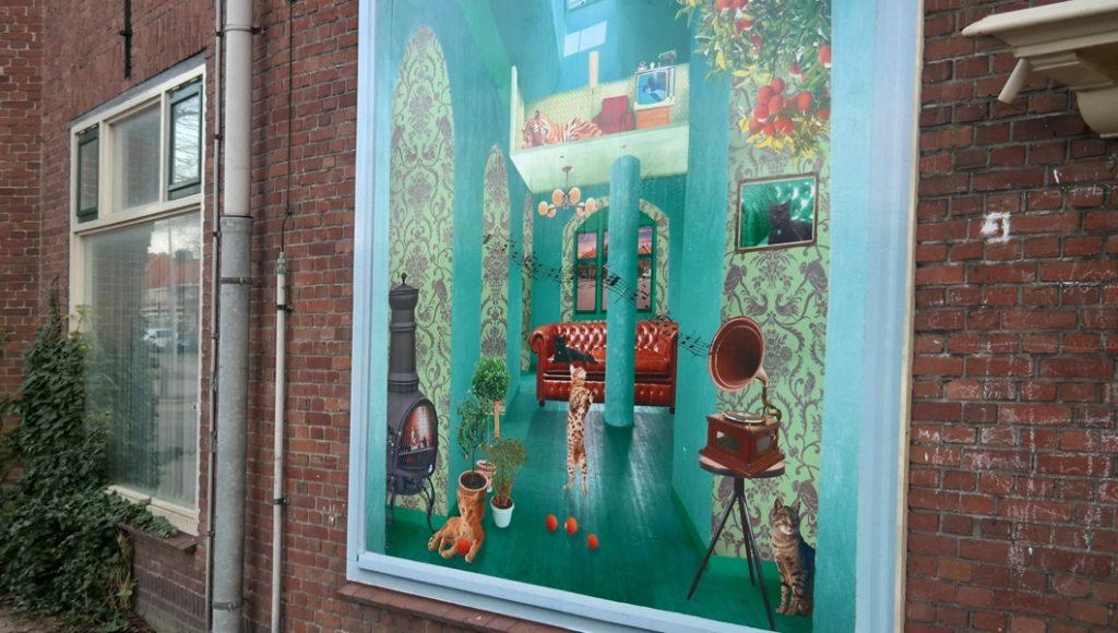 Exterior ARTvertisements for housing corporation Sleutels