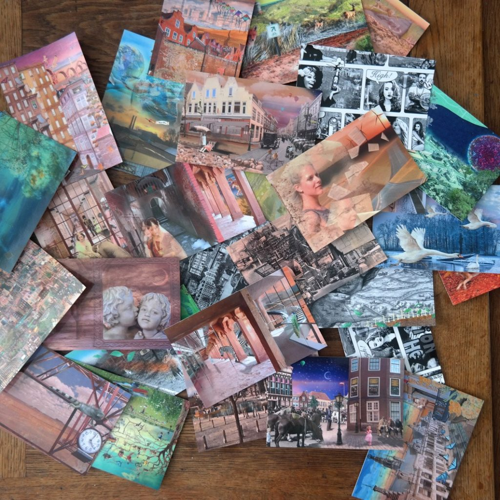 Most of the artworks created, are available as postcards.