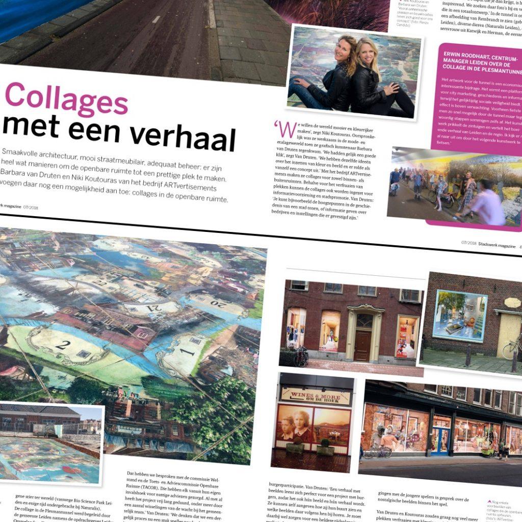 4 page publication in Stadswerk Magazine